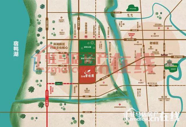 汝南县城街道地图